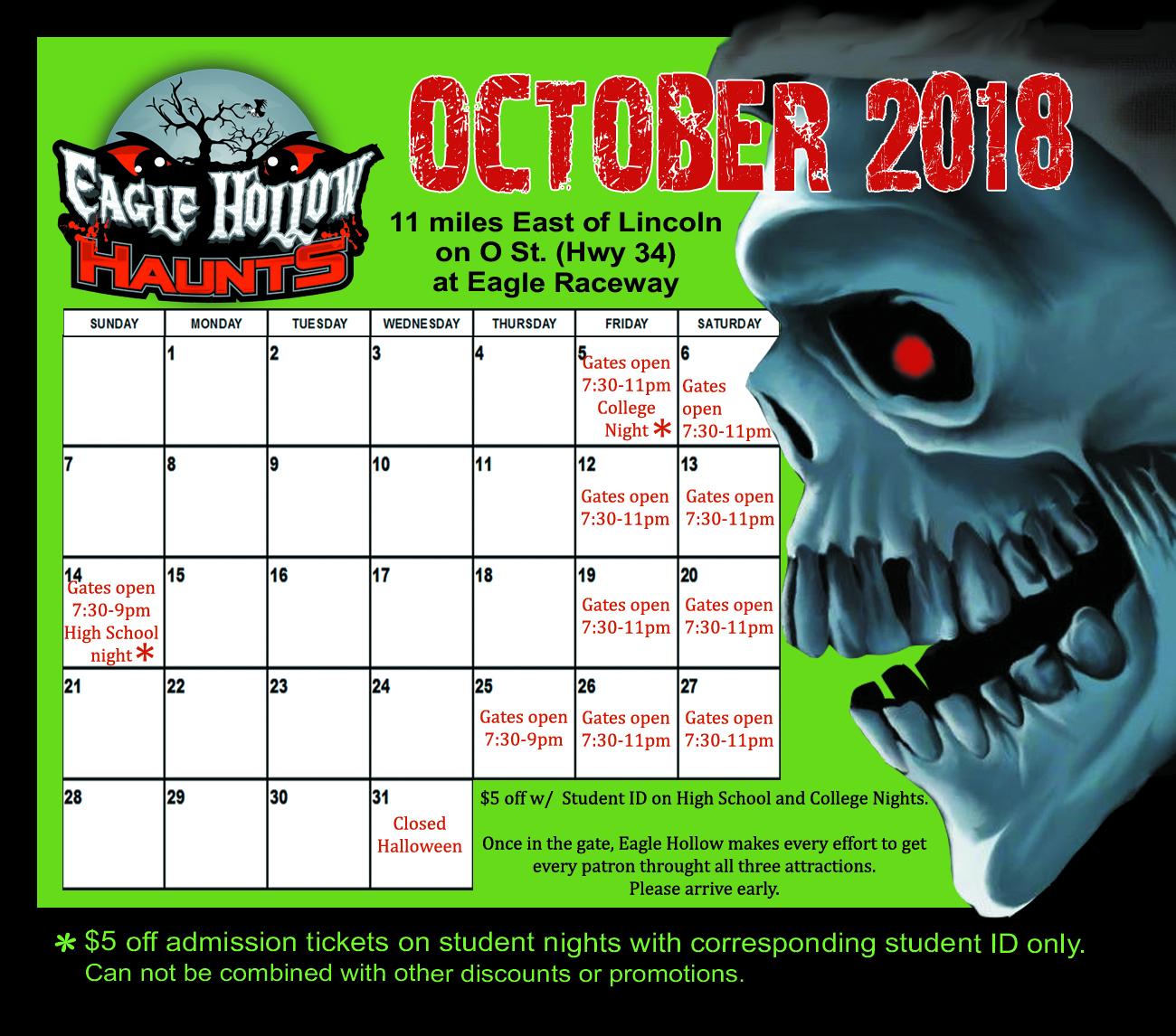 2018 website calendar